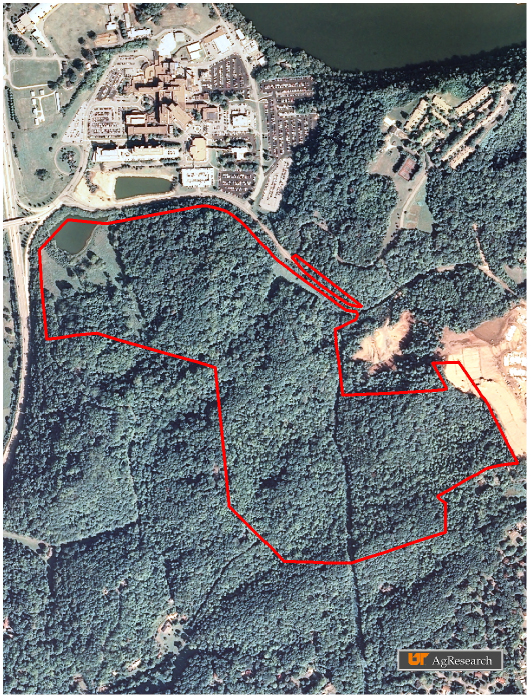 A map of the Cherokee Wetlands site.